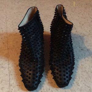 Designer spiked booties